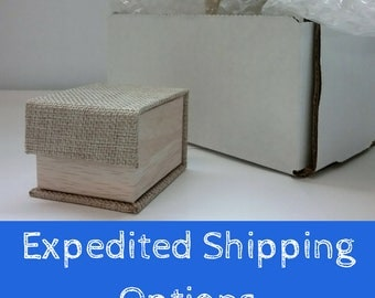 Domestic and International Upgraded Shipping Options