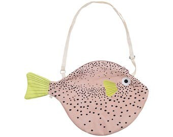 Big Pink PUFFERFISH (Big pink Balloon)-Fish bag