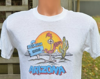 80s T-Shirt Road Runner Benson Arizona Tourist Souvenir Soft Thin Tee
