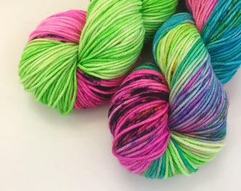 I Heart The 80s - Hand dyed Merino Worsted Weight