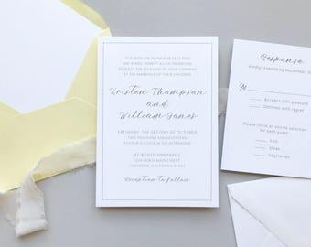Lemon Summer Citrus Wedding Invitation Suite Sample / #1114