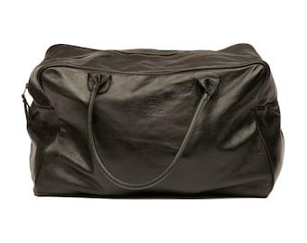 Vintage leather Weekend bag - Black