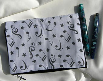 Fountain Pen Wrap for 6 Pens - Music