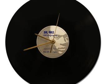 """DR DRE Vinyl clock """"Bad Intentions"""" 33tours"""