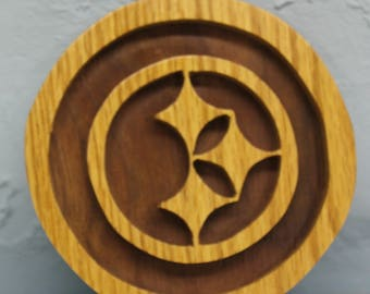 scroll saw cut Pittsburgh Steelers hanging ornament