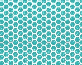 Blue Hexagons on White - HTV or Permanent Glossy or Permanent Matte Vinyl