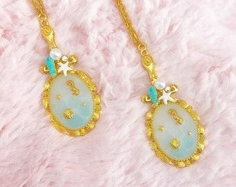 Gold Mirror Sea Necklace