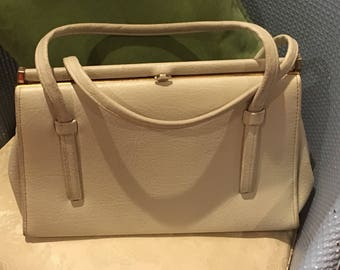 1960s Vintage Cream Handbag