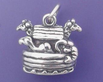 NOAH'S ARK Charm .925 Sterling Silver Pendant -  lp2163