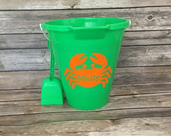 Personalized Beach Pail and Shovel Set, Beach Bucket, Beach Pail, Sand Pail, Sand Bucket