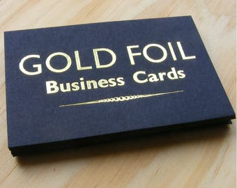100 Gold Foil Business Cards