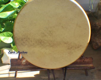 """10"""" Elk Hide Hand Drum Native American Made William Lattie Cherokee comes w/ Certificate of Authenticity FREE US SHIPPING"""