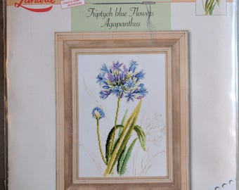 Agapanthus Kit #34850 OOP~ Counted Cross Stitch Kit ~ Lanarte Marjolein Bastin Flowers & Gardens Collection