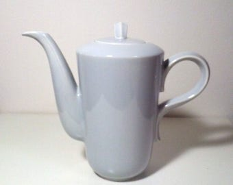 Vintage | Gray Ceramic | Coffee Pot Server | Mid-Century Modern | Unique Organic Design