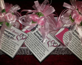 Wedding-Gift-Maid Of Honor-Thank YOU-SURVIVAL-KIT-with-a-bath-rose