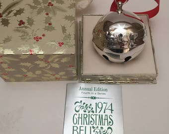 Vintage 1974 Wallace Silverplate Bell/ Ornament