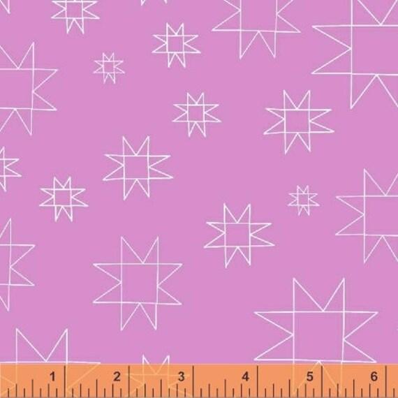 Daisy Chain by Annabel Wrigley for Windham Fabrics - Star in Fuchsia