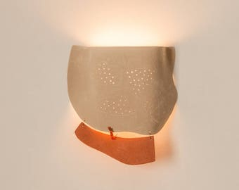 Modern wall sconce, Unique lighting , Ceramic wall light , Wall sconce light