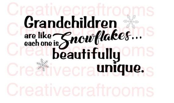 Grandchildren, Grandchildren are like snowflakes PNG, Grandparents Digital Cutting File, Cricut png, Png, Cricut Png, Print and Cut File