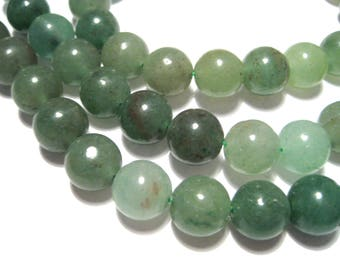 1 Strand 12mm Round Natural Green Aventurine Gemstone Beads