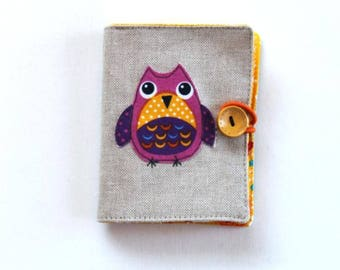 birthday gift, sewing gift, needle craft, owl handmade needle case, owl needle book, owl embroidery needle book, sewing notions book