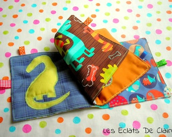 Toy - Activity book with cloth 'Cute dino'