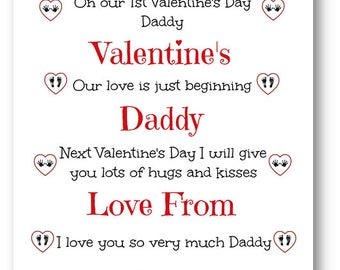 Personalised 1st Valentineu0027s Card F Daddy, Mummy, Mummy Valentineu0027s Card,  Valentineu0027s Day Card