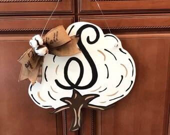 Cotton boll door hangers