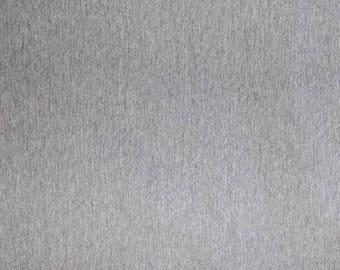 Fabric - French terry - cotton/elastane grey marl - stretch/knit fabric