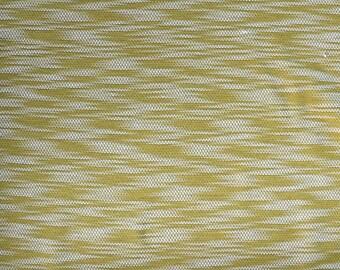 Fabric - Cotton/polyester textured light/medium jersey fabric -  mustard - knit