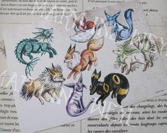 Map postcard magical Fox