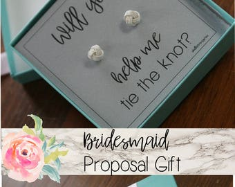 knot earrings, bridesmaids gift, bridesmaid earrings, will you be my, bridesmaid proposal,  best friend gift, mothers day gift,
