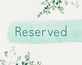 Reserved for Varun