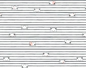 1 /2 Yard Dear Stella Feline Myself Kitty Stripes #845