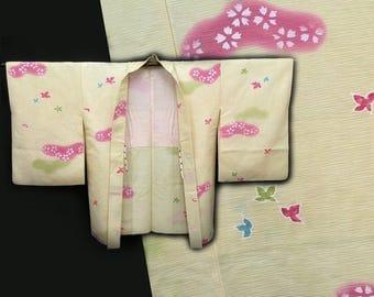 Japanese Kimono / Vintage Silk Kimono Haori Jacket / 021506