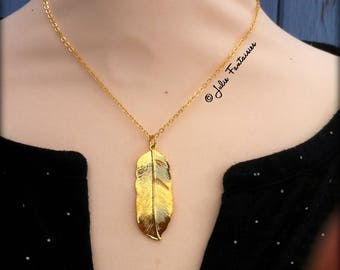 """Bohemian necklace """"Pretty feather"""""""