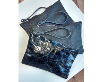 clutch leather bag black leather leather clutch