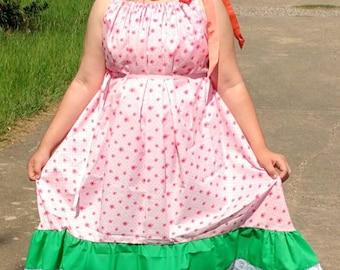 Plus size maxi dress, high low maxi dress, empire waist maxi dress, maxi dress, gathered neckline maxi dress, ruffle bottom maxi dress
