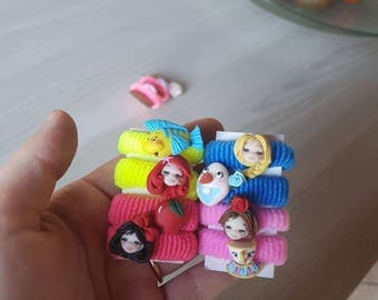 Elastici con personaggi Disney Hans made