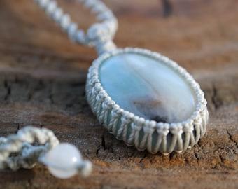 Amazonite Pendant / Stone Necklace