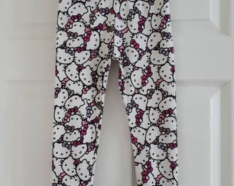 Hello Kitty leggings with cuffs pants size 3 size 4 size 9 months size 12 months