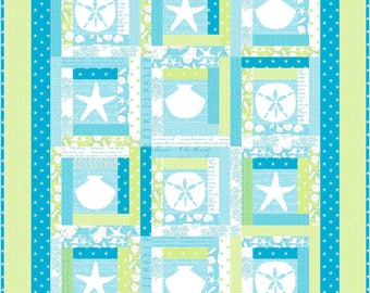 By the Sea Coastal Sea Shells Quilt Pattern - INSTANT DOWNLOAD