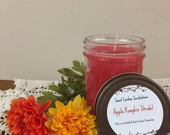 Soy Candles / Scented Candles / Apple / Pumpkin Strudel Scented Candle / Aromatherapy / Home Fragrance