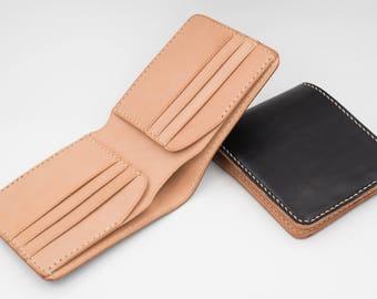Black Hermann Oak Leather Bi-fold Wallet