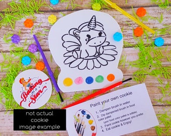 12 paint your own cookies: spring unicorn