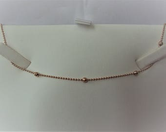 Gold Plated Beaded Choker Necklace.