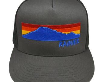 Mount Rainier Sunset Trucker Hat