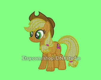 Applejack My Little Pony Embroidery Design - 6 Sizes - INSTANT DOWNLOAD