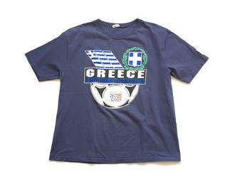 1994 World Cup soccer t shirt size xl greece waves brand