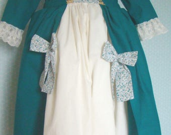 Dress of disguise(fancy dress) typifies Pompadour in size 7/8 the cotton years and the lace